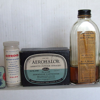 Items From an Old Medicine Cabinet - Advertising