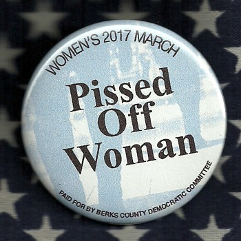2017 Woman.s March in Washington D.C. pinback button - Medals Pins and Badges