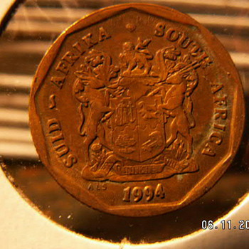 1994 South Africa 50 C - World Coins