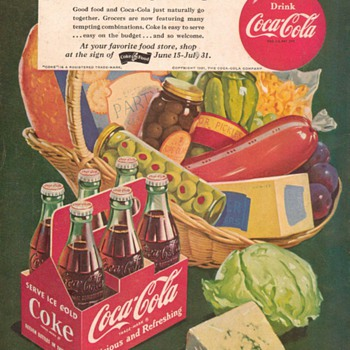 1951 - Coca Cola Advertisement - Advertising