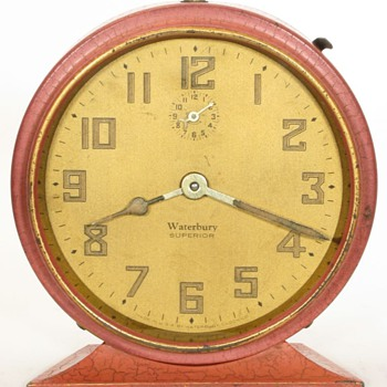 Waterbury Crackle Pink Alarm Clock - Clocks