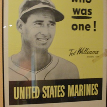 Ted Williams USMC Poster - Baseball