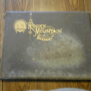 Railroad Book from the late 1800s