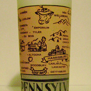 Vintage Pennsylvania State Glass