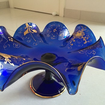 Cobalt with gold glass