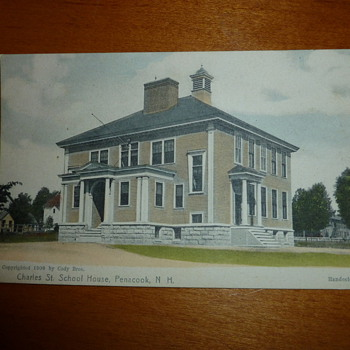 "1906 NH Handcolored Postcard w/ Strange ""Light"""