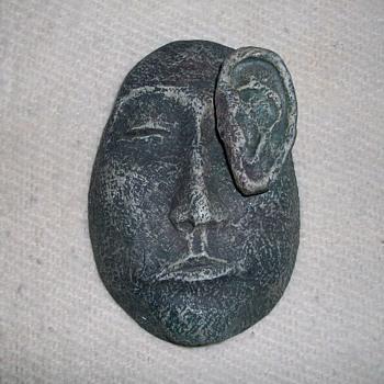 Ear Face Guy Wall Hanging - Folk Art