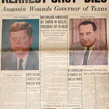 "Chicago Tribune ""Kennedy Shot-Dies"" - Nov. 23, 1963"