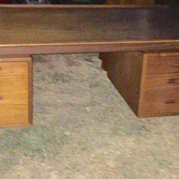 70s Danish teak executive desk