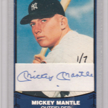 MY BEST MICKEY MANTLE CARD - Baseball