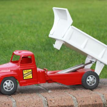 """1950s Buddy L Hydraulic Dump Truck """"mettoy"""""""