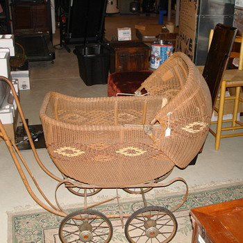 Heywood Wakefield Wicker Baby Carriage