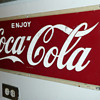 Enjoy Coca Cola Steel Sign 1950's