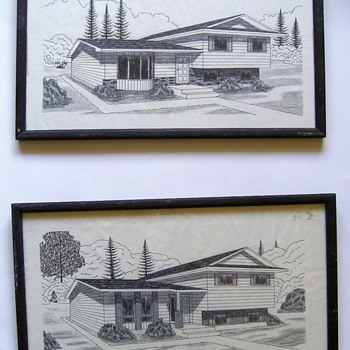 1960's -- CONCEPT Drawings of House