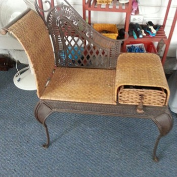 Wicker Gossip Bench