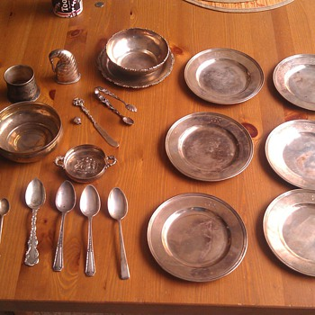 Vintage Sterling Plates, Spoons and Misc.