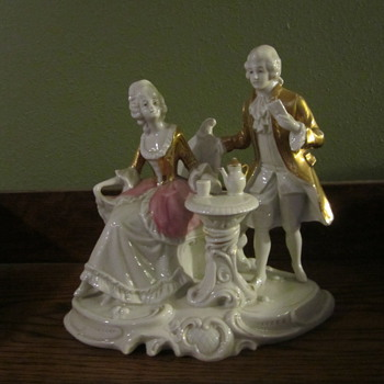 China figurines at tea - China and Dinnerware