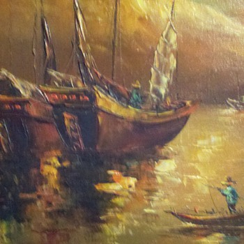 L. Wong Junk boats original