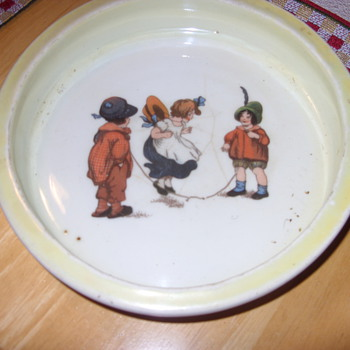 late 1800s rosenthal continental bavaria hand painted kids bowl