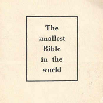 "The Smallest Bible in the World""NCR Microfilm""Circa 1966 - Paper"