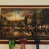 Antique? French Scenery Oil Painting Eiffel Tower Artist Lirnfor? Help!!!!
