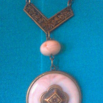 Antique botton necklace?