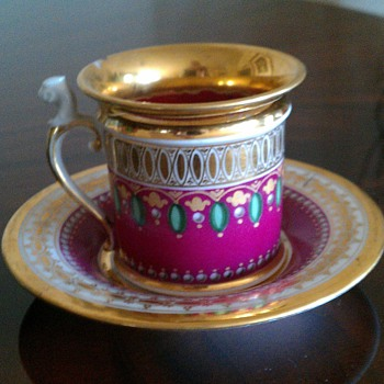 French porcelain cup