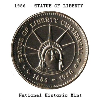 1986 - Statue of Liberty Medal - US Coins