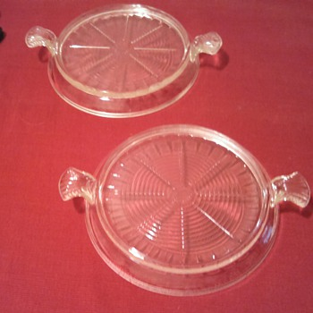 Fire King Clear Glass Trivets - Glassware