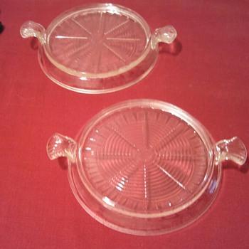 Fire King Clear Glass Trivets