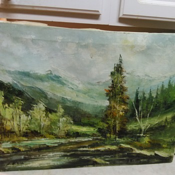 LANDSCAPE OIL PAINTING - Visual Art