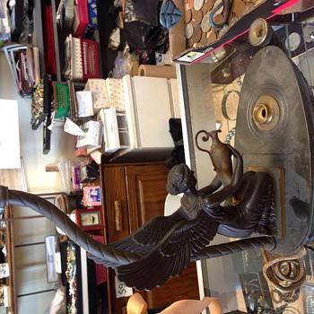 Bronze Aladdin Figural Lamp w/ two hallmarks.. Help please - Lamps