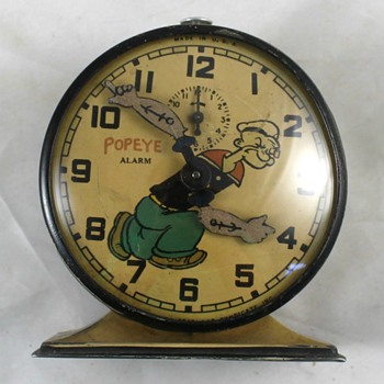 1934 Popeye Alarm Clock - Clocks