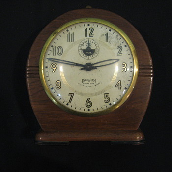 Ingraham Eight Day Windup Alarm Clock