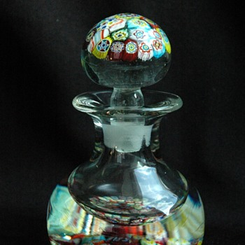 antique french CLICHY millefiori inkwell / paperweight