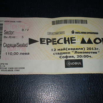 Depeche Mode May 12, 2013! - Music Memorabilia
