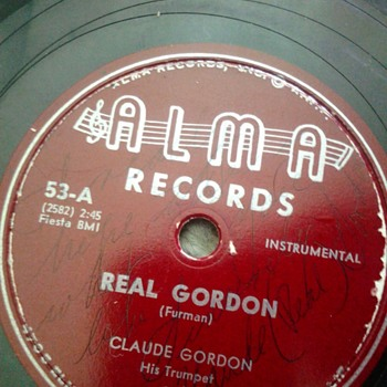 "Claude Gordon ""The Real Gordon"" - Records"