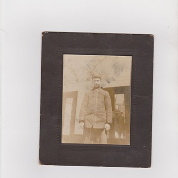 Early Photo of Train Man - Photographs