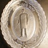 President McKinley Memorial Oval Glass Bread Plate