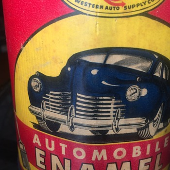 Western Auto Wizard paint can 1940's NOS - Petroliana