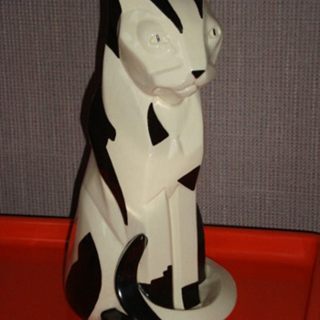 FRENCH CUBIST CERAMIC CAT, MY PRIDE AND JOY! - Art Pottery