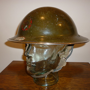 British WWII National Fire Service steel helmet - Military and Wartime