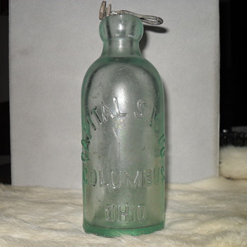 Capital S.W.  Co  Soda Bottle  Columbus, Ohio 1800's - Bottles