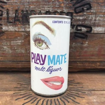 Playmate Malt Liquor Beer Can - Breweriana