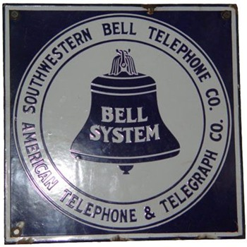 Southwestern Bell 11x11&quot; sign