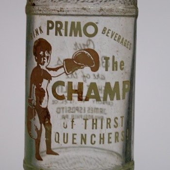 "Vintage ""Primo the Champ"" Soda Bottle?"