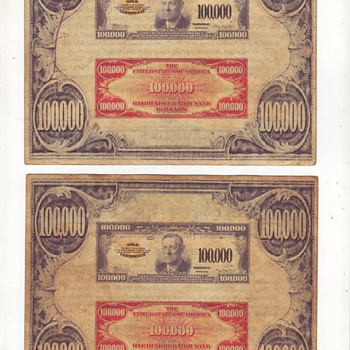 old US gold certificate - US Paper Money