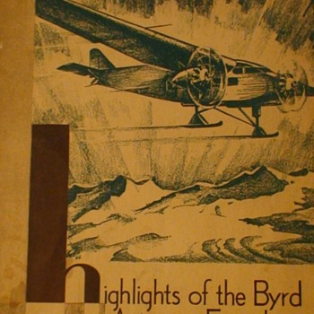 Highlights Of The Byrd Antartic Expedition Booklet 1930 Tide Water Oil Company