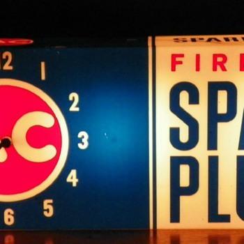 AC Spark Plug Clock