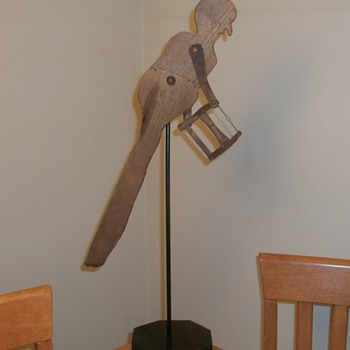 Antique Folk Art Whirligig Sculpture collection Jim Linderman
